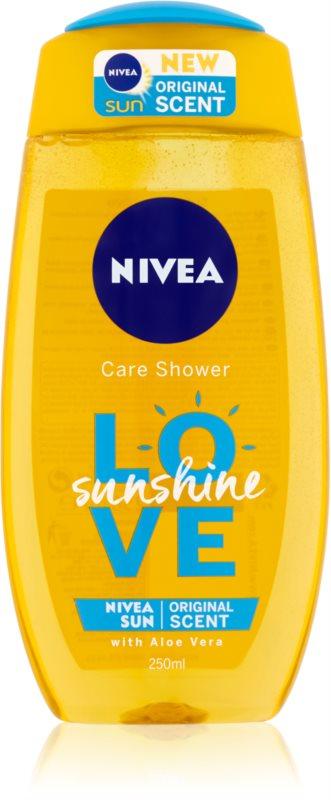 Nivea Love Sunshine osviežujúci sprchový gél s aloe vera