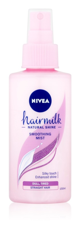 Nivea Hairmilk Natural Shine balzam brez spiranja za glajenje las