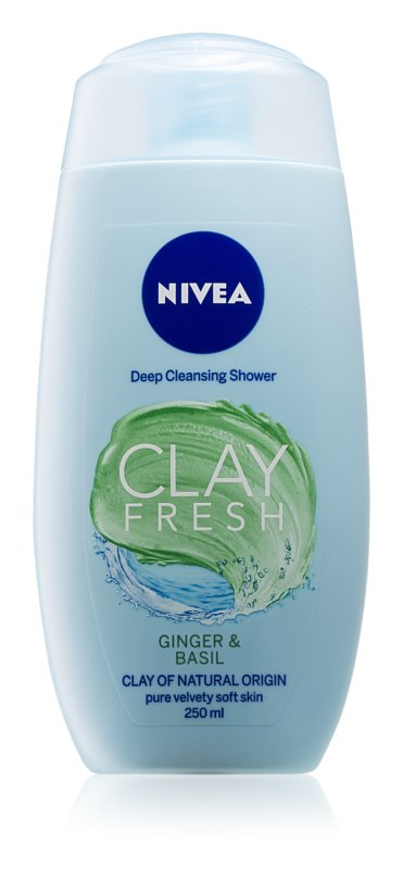 Nivea Clay Fresh Ginger & Basil Shower Gel With Clay