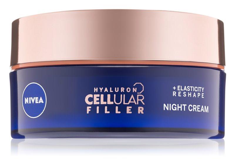 Nivea Hyaluron Cellular Filler nočna krema za preoblikovanje obraza