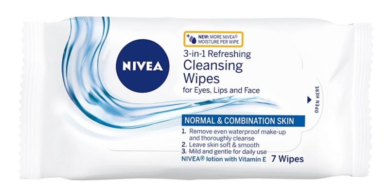 Nivea 3in1 Refreshing osvežilni čistilni robčki za obraz