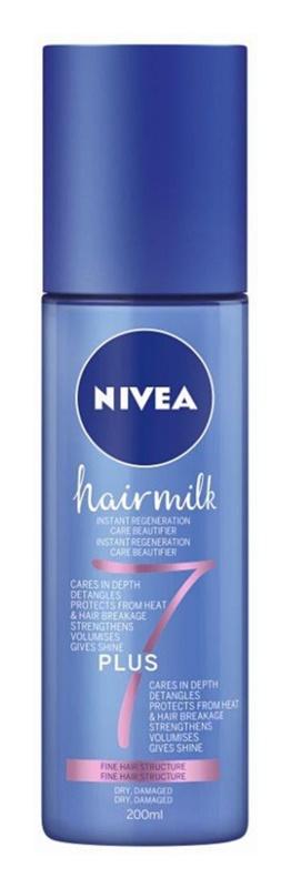 Nivea Hairmilk 7 Plus condicionador restaurador leave-in para cabelo fino
