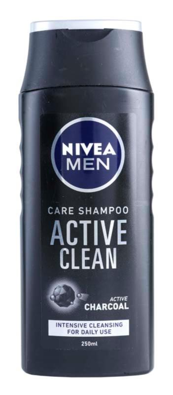 Nivea Men Active Clean șampon cu ingrediente active de cărbune