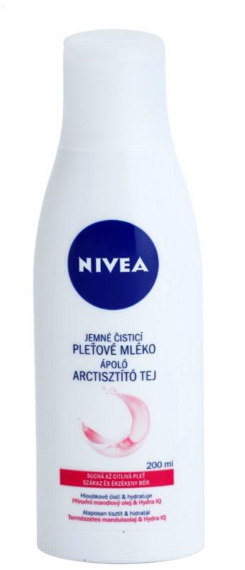 Nivea Aqua Effect čisticí pleťové mléko pro citlivou a suchou pleť