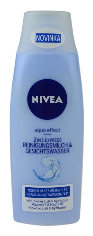 Nivea Aqua Effect čisticí pleťové mléko a voda 2v1