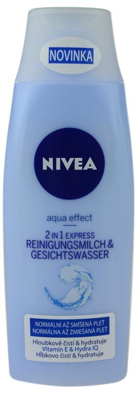 Nivea Aqua Effect čistilno mleko in voda za obraz 2 v 1