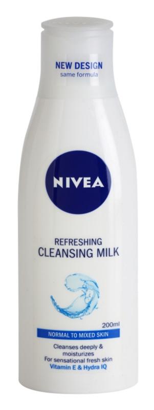 Nivea Aqua Effect osvežilno čistilno mleko za obraz za normalno do mešano kožo