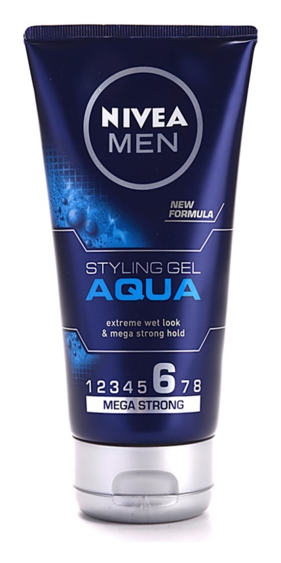 Nivea Men Aqua gel za lase z mokrim učinkom ekstra močno utrjevanje
