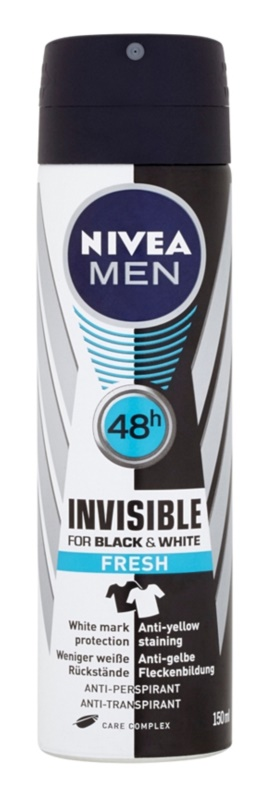 Nivea Men Invisible Black & White antiperspirant ve spreji