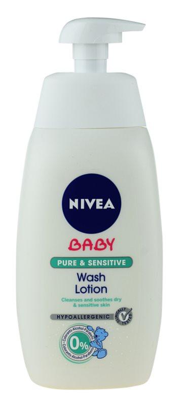 Nivea Baby Pure & Sensitive gel de dus pentru față, corp și păr
