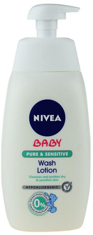 Nivea Baby Pure & Sensitive tisztító gél arcra, testre és hajra