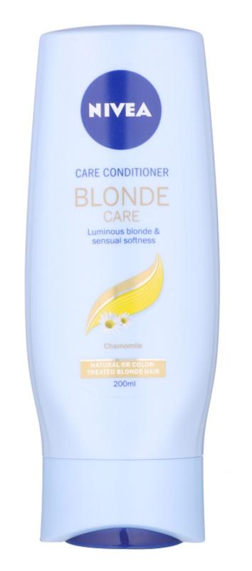 Nivea Brilliant Blonde acondicionador para cabello rubio