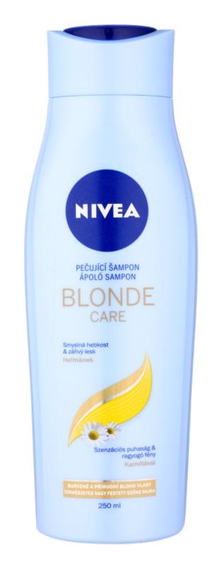 Nivea Brilliant Blonde champô para cabelo loiro e grisalho