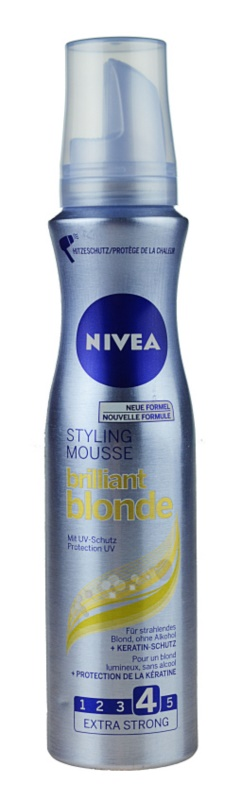 Nivea Brilliant Blonde mousse para cabelo loiro e grisalho
