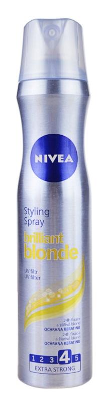 Nivea Brilliant Blonde laca para cabelo loiro e grisalho