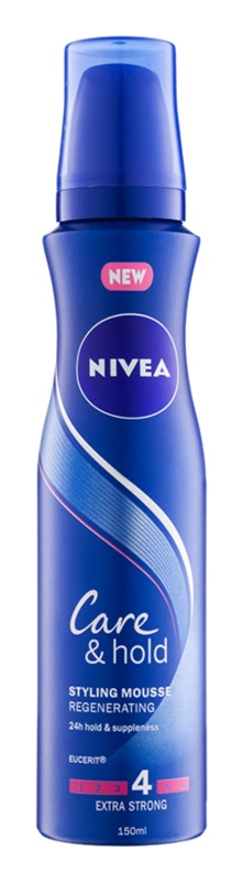 Nivea Care & Hold Extra Strong Hold Regenerating Volumising Mousse