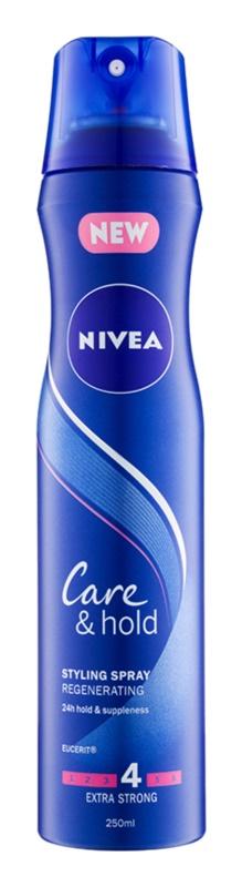 Nivea Care & Hold spray regenerador para uma fixação extra forte