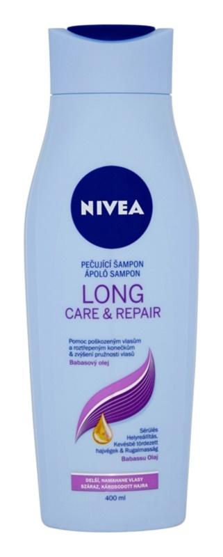 Nivea Long Care & Repair Shampoo  voor Breekbaar en Gestrest Haar