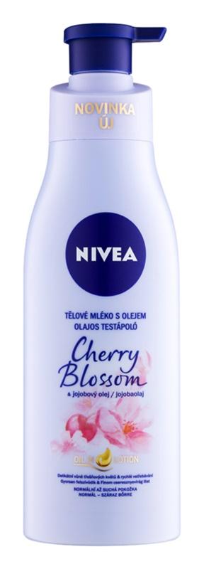 Nivea Cherry Blossom & Jojoba Oil mleczko do ciała z olejem
