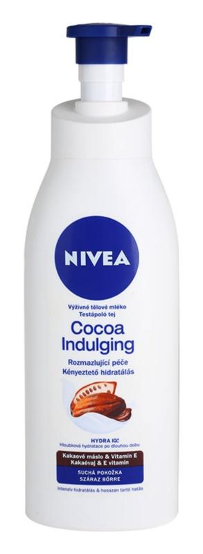 Nivea Cocoa Indulging vyživující tělové mléko pro suchou pokožku