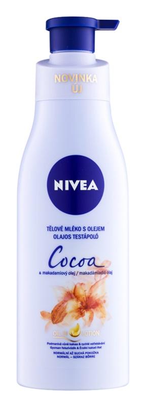 Nivea Cocoa & Macadamia Oil leite corporal com óleo