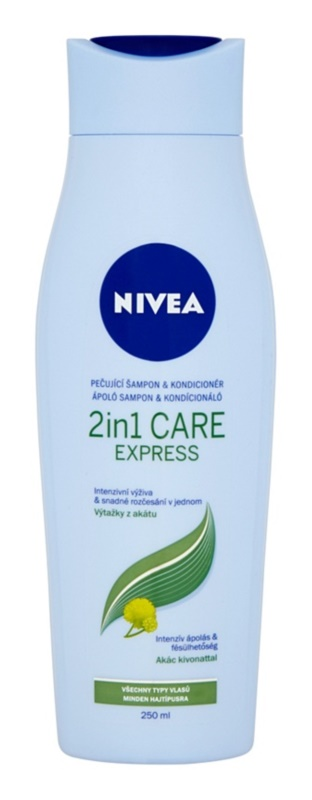 Nivea 2in1 Care Express Protect & Moisture Shampoo And Conditioner 2 In 1 for All Hair Types
