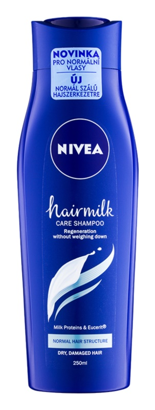 Nivea Hairmilk ošetrujúci šampón pre normálne vlasy