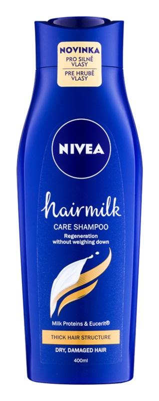 Nivea Hairmilk champô de cuidado para cabelo grosso e rebelde