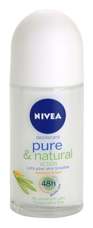 Nivea Pure & Natural desodorante roll-on