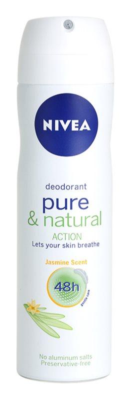 Nivea Pure & Natural desodorizante em spray 48 h