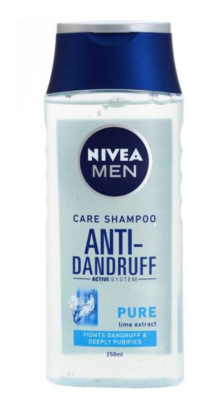 Nivea Men Pure champú anticaspa para el cabello normal hasta graso