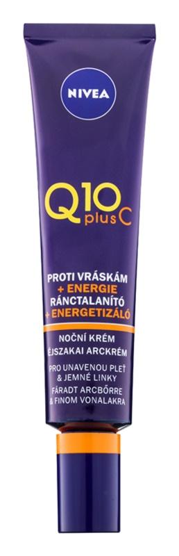 Nivea Q10 Plus C energizujúci nočný krém proti vráskam