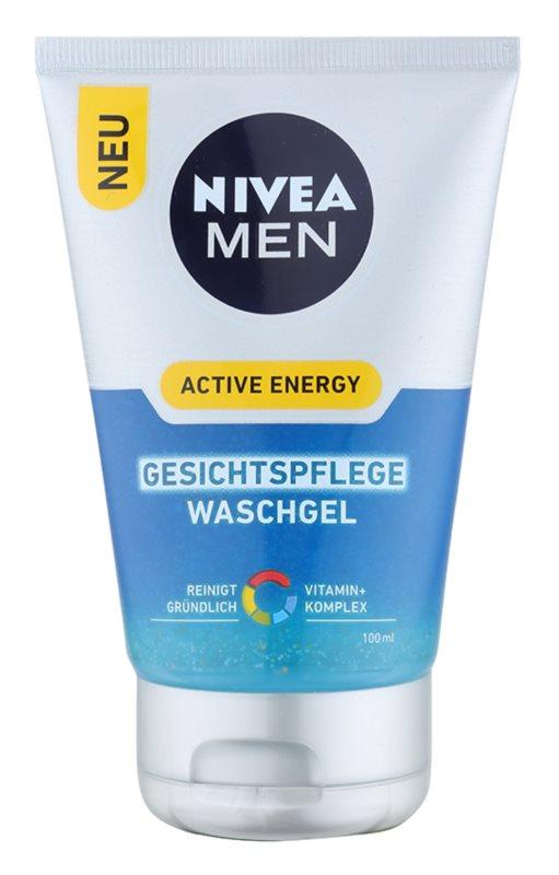 Nivea Men Active Energy osvěžující čisticí gel na obličej