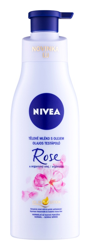 Nivea Rose & Argan Oil leite corporal com óleo