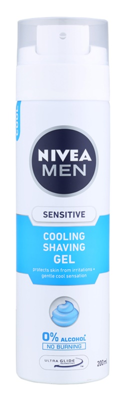 Nivea Men Sensitive gel de barbear com efeito resfrescante
