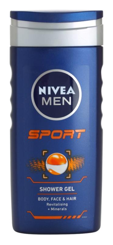 Nivea Men Sport gel de duche para rosto, corpo e cabelo