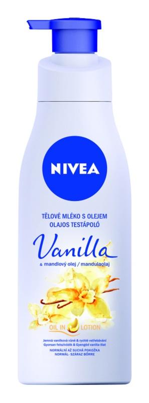 Nivea Vanilla & Almond Oil leite corporal com óleo