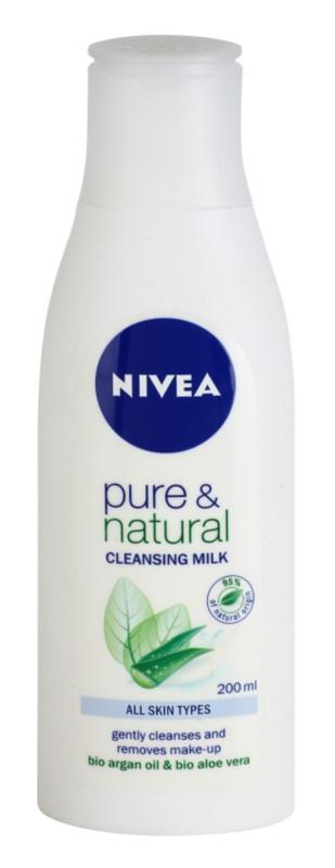Nivea Visage Pure & Natural čisticí pleťové mléko
