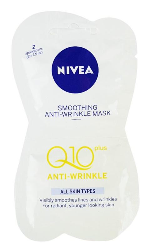 Nivea Visage Q10 Plus glättende Maske gegen Falten