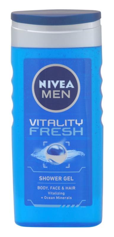 Nivea Men Vitality Fresh gel de ducha para cabello y cuerpo
