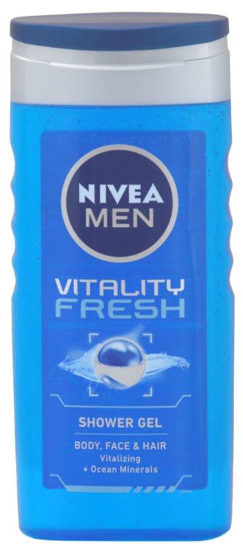 Nivea Men Vitality Fresh gel za prhanje za lase in telo