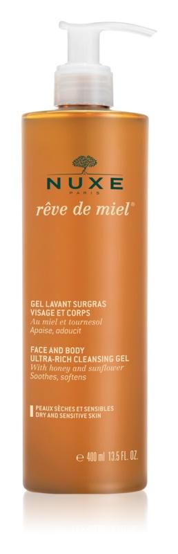 Nuxe Rêve de Miel čistilni gel za suho kožo