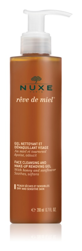 Nuxe Rêve de Miel τζελ καθαρισμού για ευαίσθητη και ξηρή επιδερμίδα