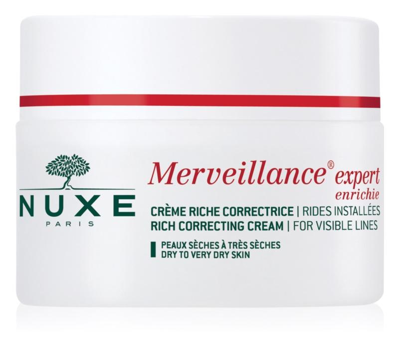Nuxe Merveillance crème anti-rides pour peaux sèches à très sèches