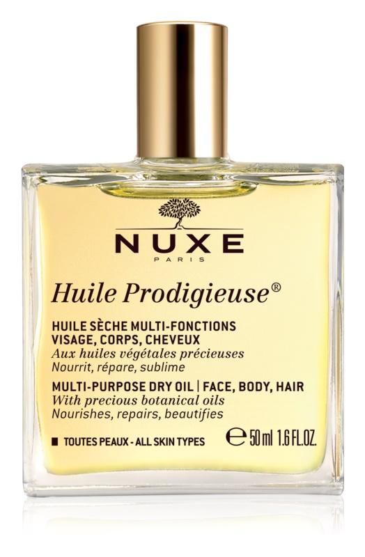 Nuxe Huile Prodigieuse óleo seco multifuncional  para rosto, corpo e cabelo