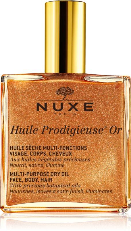 Nuxe Huile Prodigieuse OR večnamensko suho olje z bleščicami za obraz, telo in lase