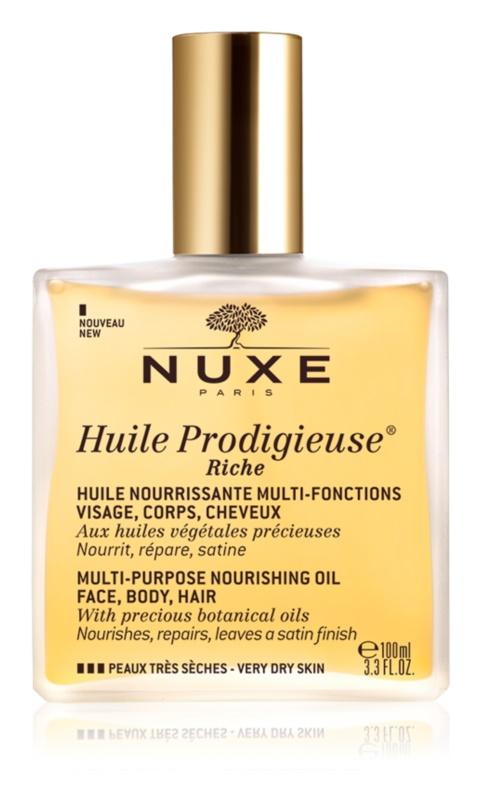 Nuxe Huile Prodigieuse Riche huile sèche multifonctionnelle pour peaux très sèches