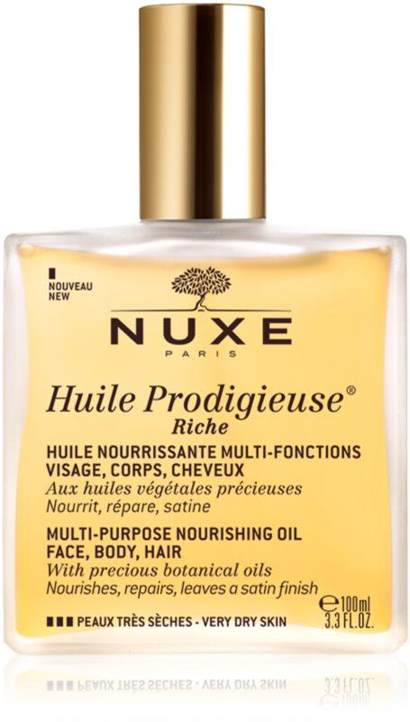 Nuxe Huile Prodigieuse Riche πολυλειτουργικό ξηρό λάδι για πολύ ξηρό δέρμα