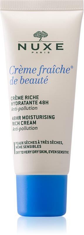 Nuxe Crème Fraîche de Beauté crème apaisante et hydratante pour peaux sèches à très sèches