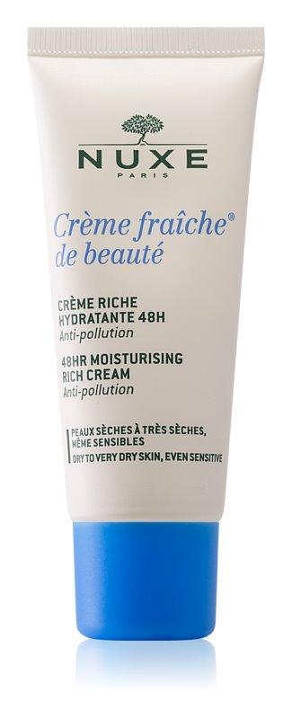 Nuxe Crème Fraîche de Beauté pomirjevalna in vlažilna krema za suho do zelo suho kožo